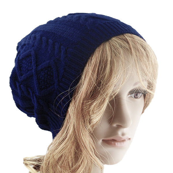 Blue Unisex Slouchy Beanie Hat - Gifts Are Blue - 1