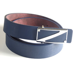 Fashionable Blue Belt with Silver Z Buckle - Gifts Are Blue - 2