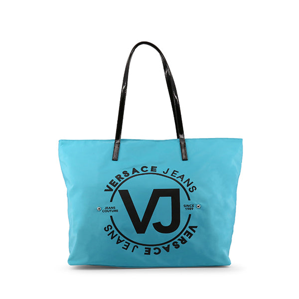 Versace Jeans Couture Logo Print Shopping Tote Bag