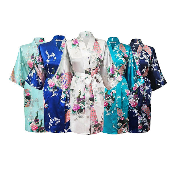 Floral Bridal Party Bride & Bridesmaid Robe Sets, Size 2-20
