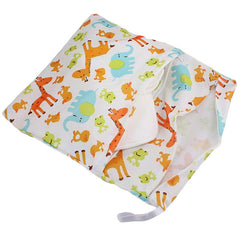 Waterproof Double Zipper Wet Dry Reusable Diaper Bag - Gifts Are Blue - 4