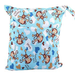 Waterproof Double Zipper Wet Dry Reusable Diaper Bag - Gifts Are Blue - 10