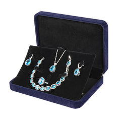 Womens 4pc Topaz Jewelry Set, 925 Sterling Silver, Jewelry Box, all SKUs