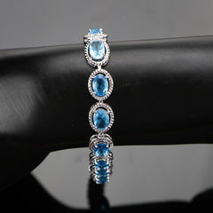 Womens 4pc Topaz Jewelry Set, 925 Sterling Silver, Bracelet, all SKUs