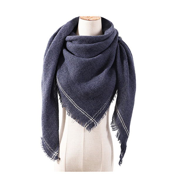 Womens Cashmere Blend Triangle Fashion Scarf