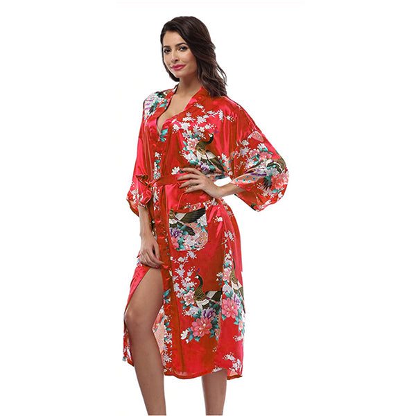 Red Mommy and Me Robes, Floral, Satin, Womens Robes, all SKUs