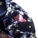 Womens Plus Size Robe Navy Blue Fabric Detail, Navy Blue