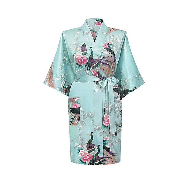 Light Blue Mommy & Me Robes, Floral, Adult Womens Robe, all SKUs