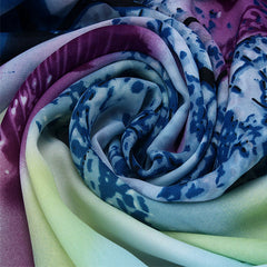 Womens Lightweight Scarf with Printed Artistic Scenery - Gifts Are Blue - 7