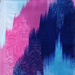 Womens Lightweight Scarf with Printed Artistic Scenery - Gifts Are Blue - 6