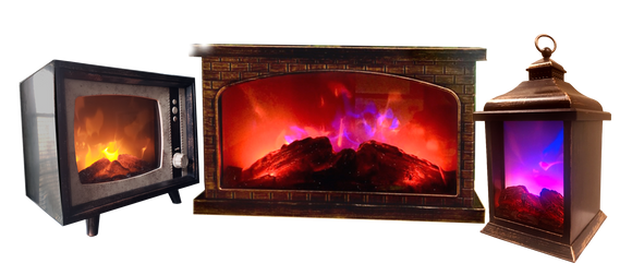 LED Fireplace - Only Two-Color flame on Web