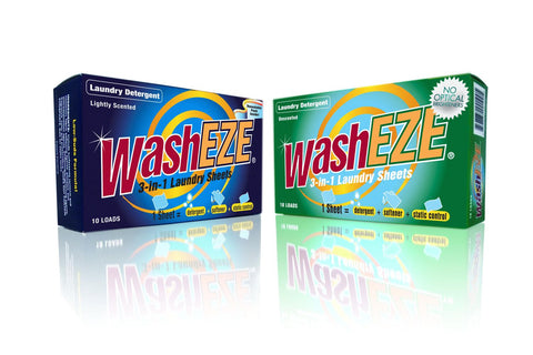 WashEZE 3in1 Laundry Sheets - 120 loads case pack