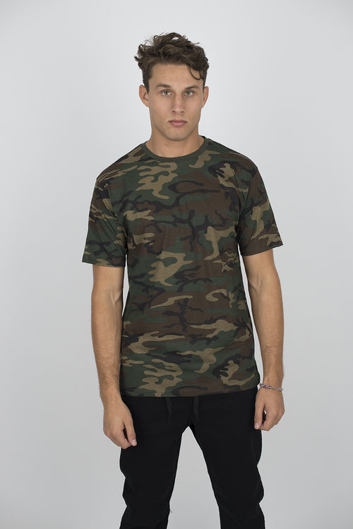 T Shirt - 2001C CAMO SIDE SLIT TEE
