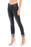 Stevie Crop - Black - Fidelity Denim