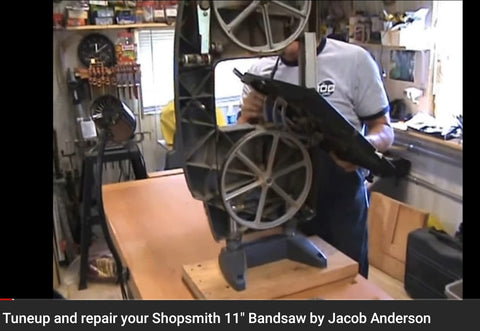 Tuneup & repair your Shopsmith BANDSAW video hosted on Youtube