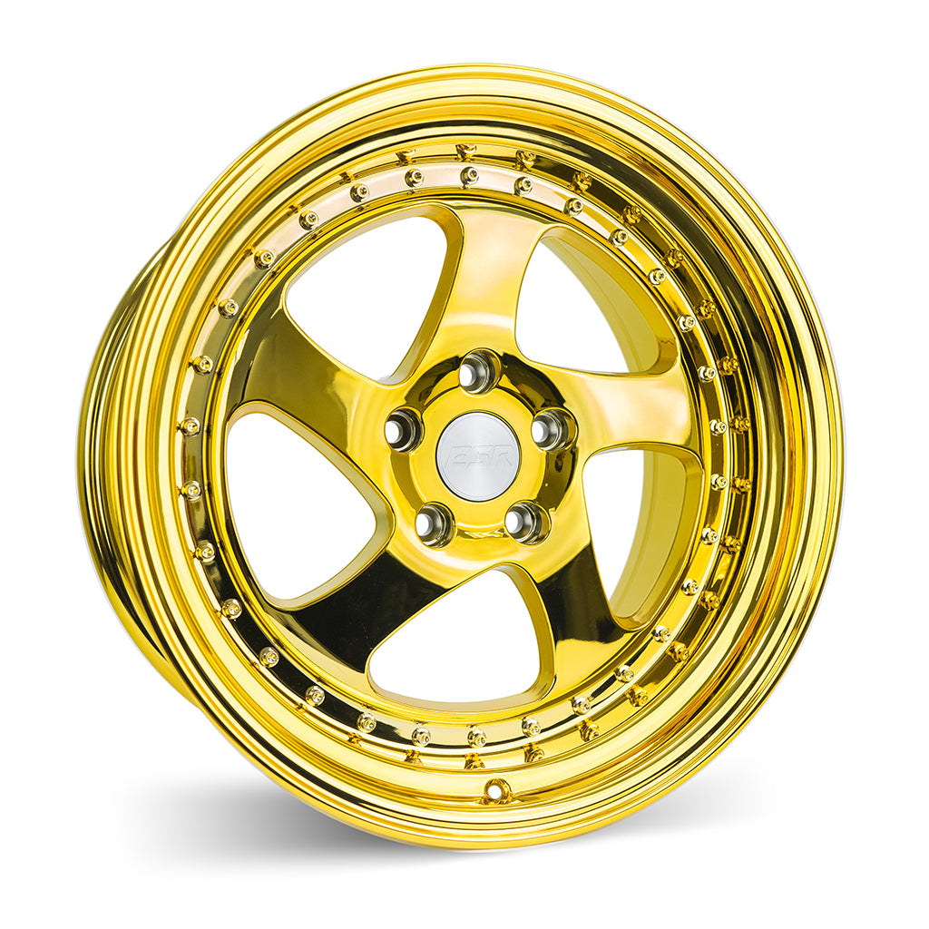 ESR SR02 18X10.5 5X114.3 +22 73.1 VACUUM GOLD CHROME 1 WHEEL/RIM