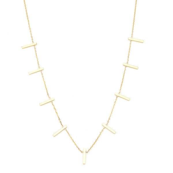 Vale 14k Ladder Necklace