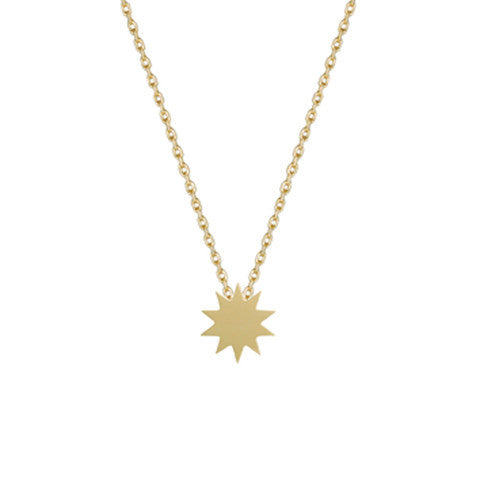 Carmen Diaz 14k Single Solar Necklace