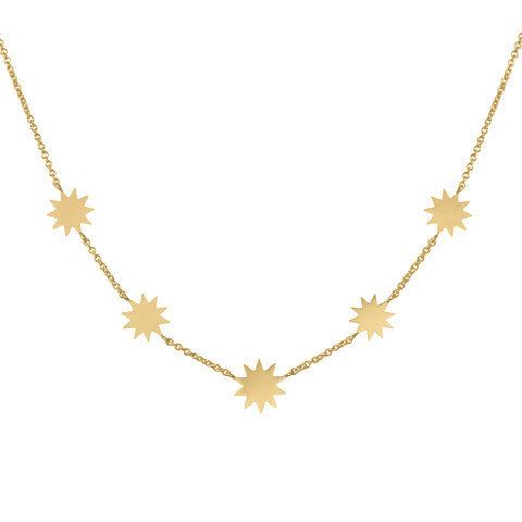 Carmen Diaz 14k Multi Solar Necklace