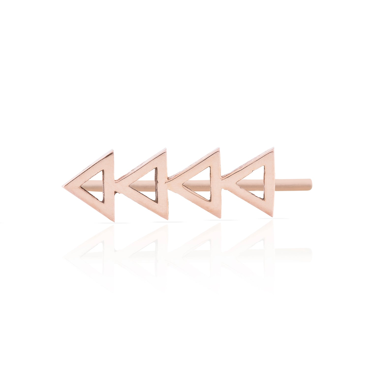 Smith + Mara 14k Cutout Triangle Ear Climber