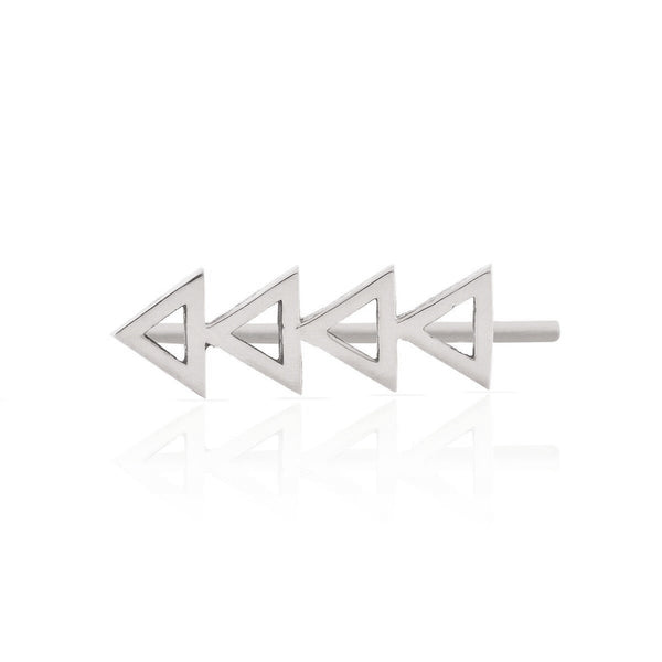 Smith + Mara SS Cutout Triangle Ear Climber