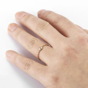 Vale 14k Diamond Chain Ring
