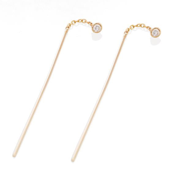 Vale 14k Pair of Diamond & Needle Threader