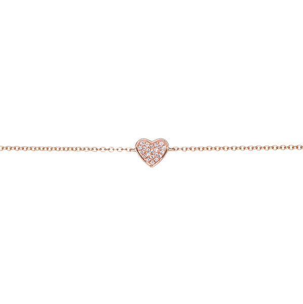 EF Collection 14k Diamond Heart Chain Bracelet
