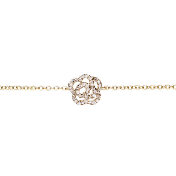 EF Collection 14k Diamond Rose Chain Bracelet