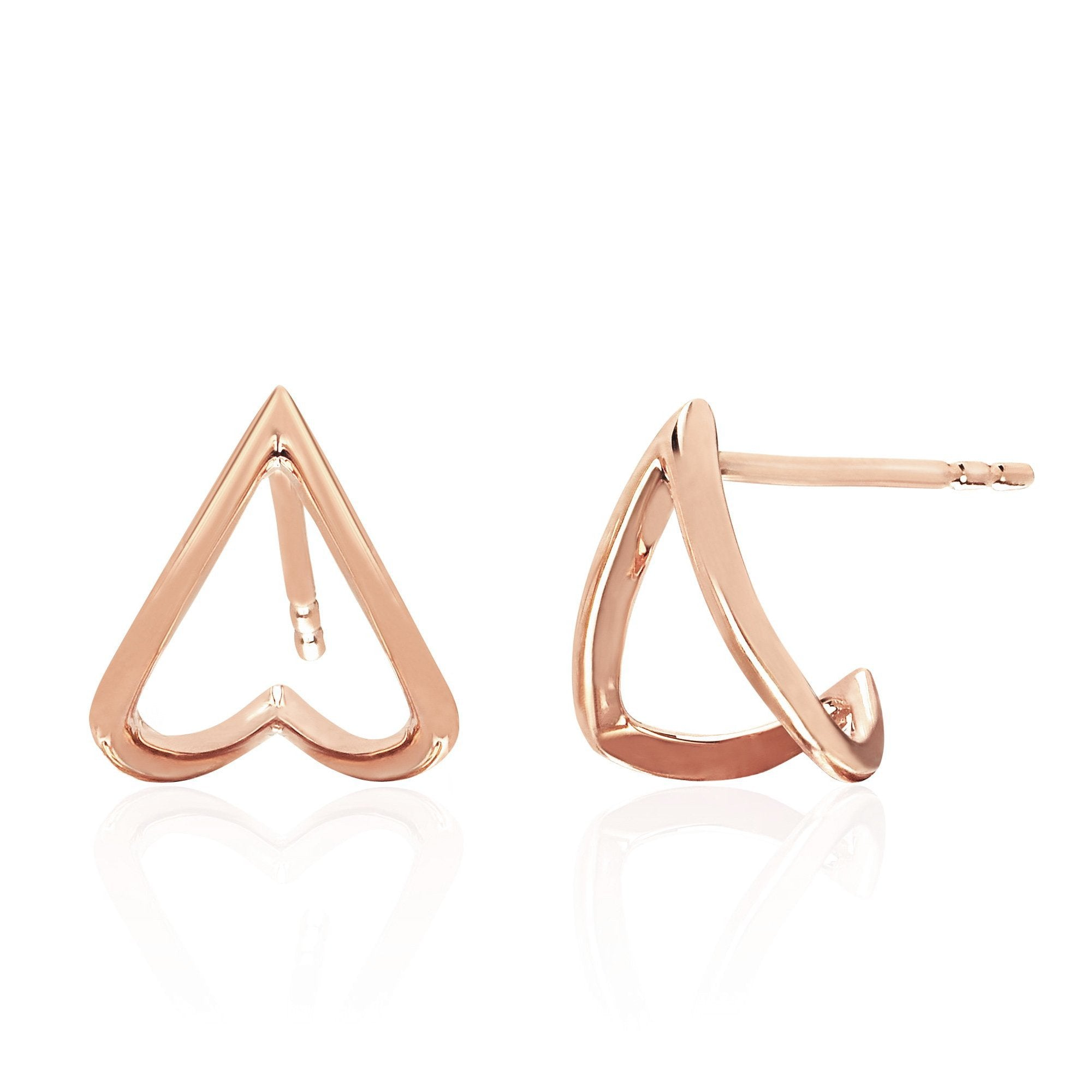 EF Collection 14k Solid Mini Chevron Wrap Stud