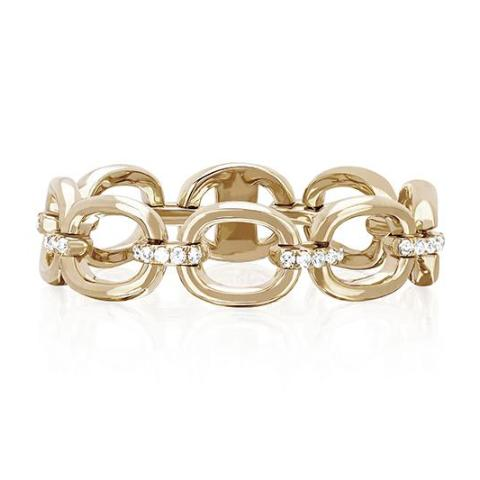 EF Collection 14k Diamond Chain Link Ring