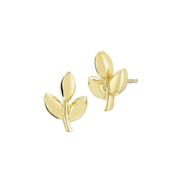Finn Gold Leaf Earrings