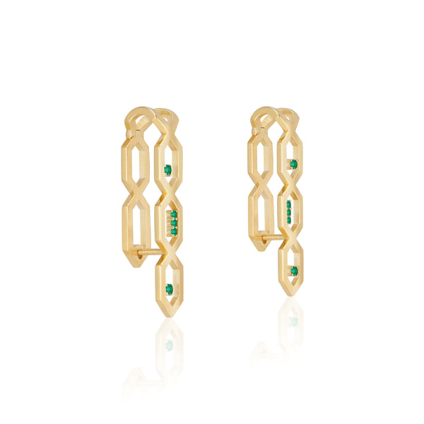 Noor Shamma Luz U Hoop Earrings