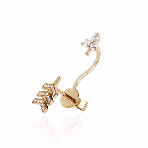 EF Collection 14k Single Diamond Arrow Ear Jacket