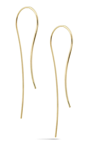 White Space 14k Pair of Lenny Hook Earrings