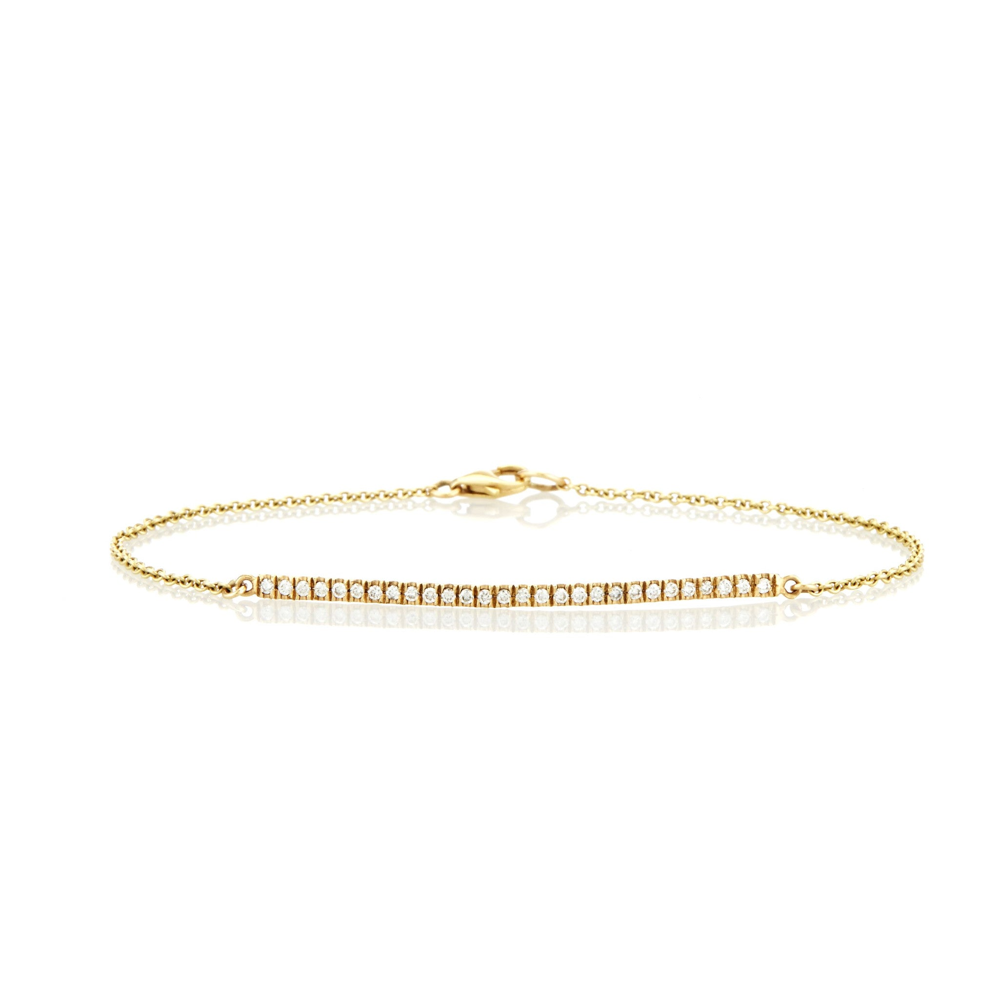rope solid cut gold yellow p bracelet diamond