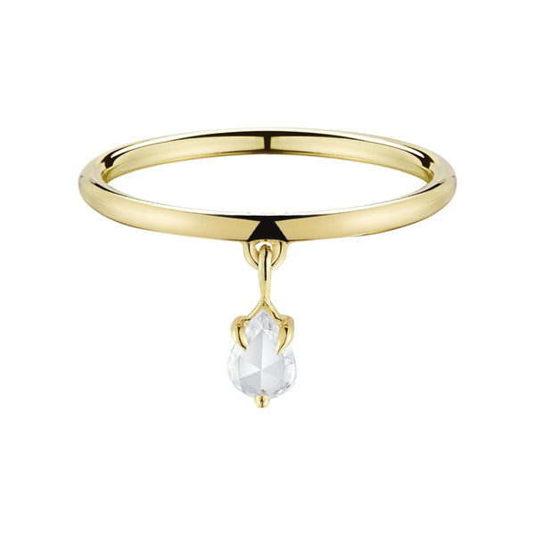Finn 18k Diamond Dangle Ring