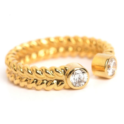 Lillian Ismail 18k Jadela Diamond Ring