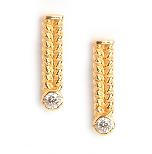 Lillian Ismail 18k Jadela Diamond Earring