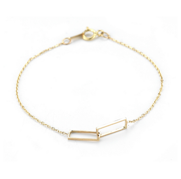 Vale 14k Interlocking Rectangles Bracelet