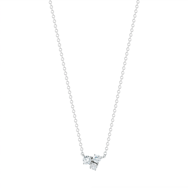 Finn 18k Diamond Cluster Necklace