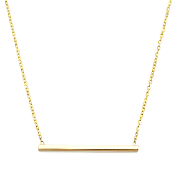 Vale 14k Simple Bar Necklace