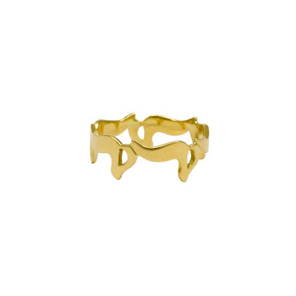 Bil Arabi 18k Letter Ring