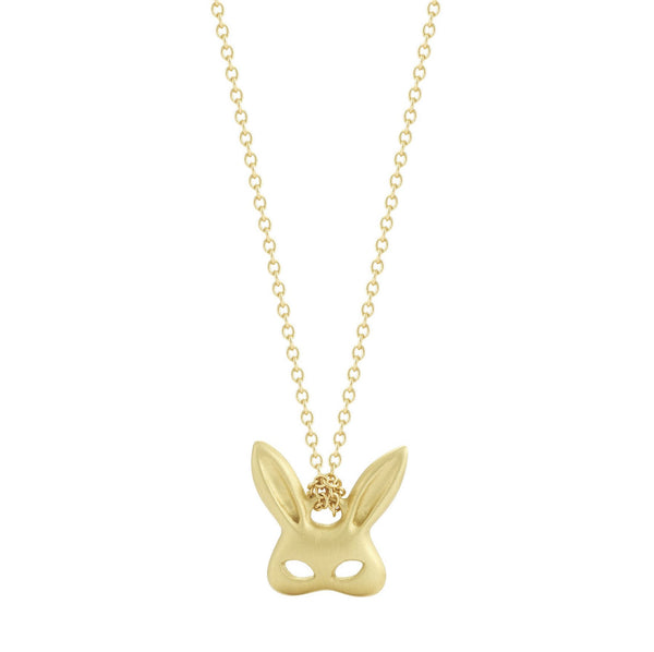 Finn 18k Tiny Rabbit Mask Pendant