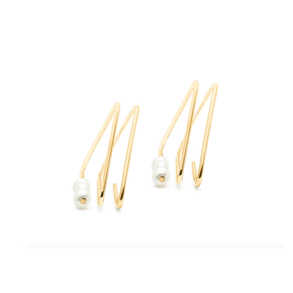 Noor Shamma 18k Troika Spiral Earrings