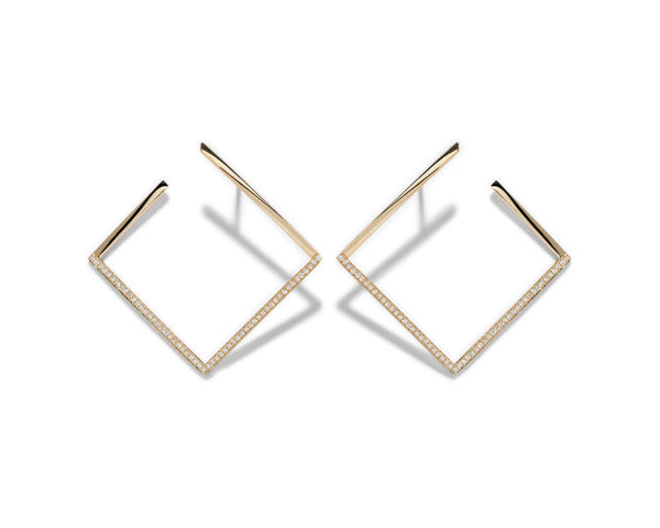 Azlee White Light Pavé Earrings