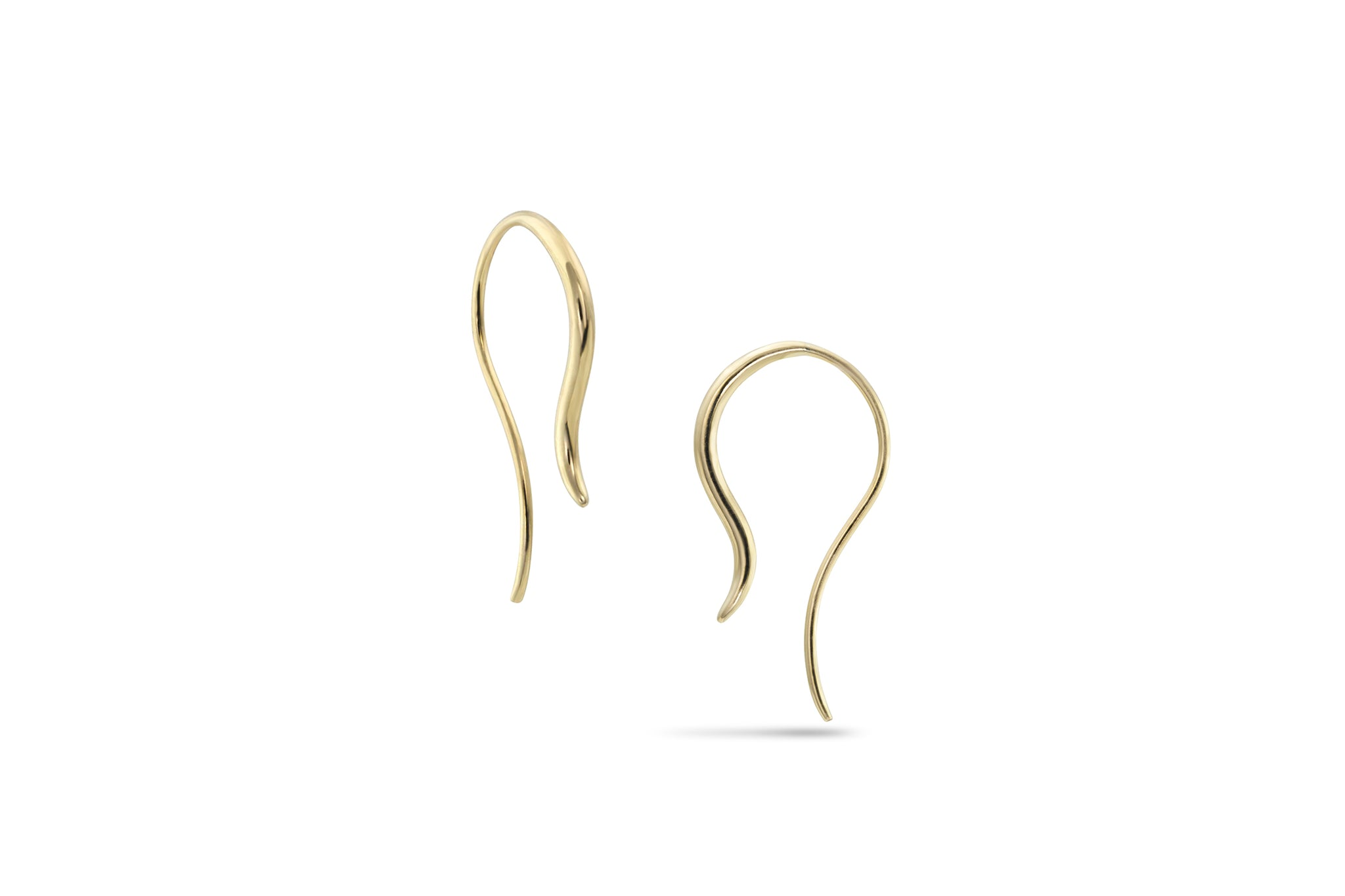 White Space 14k Pair of Oona Small Hook Earrings