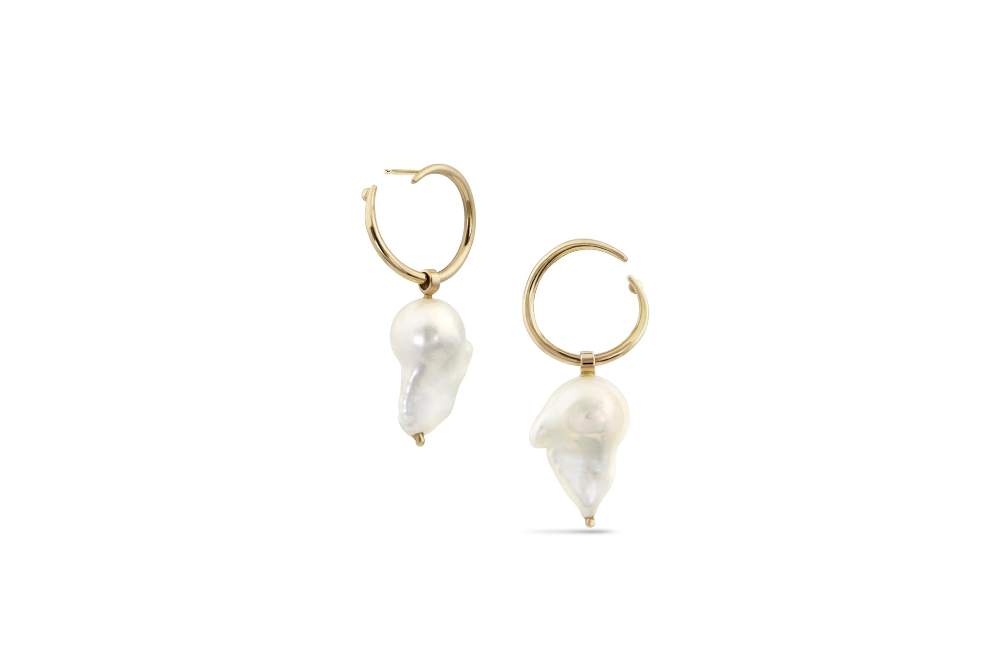 White Space 14k Pair of Esme Baroque Illusion Hoops