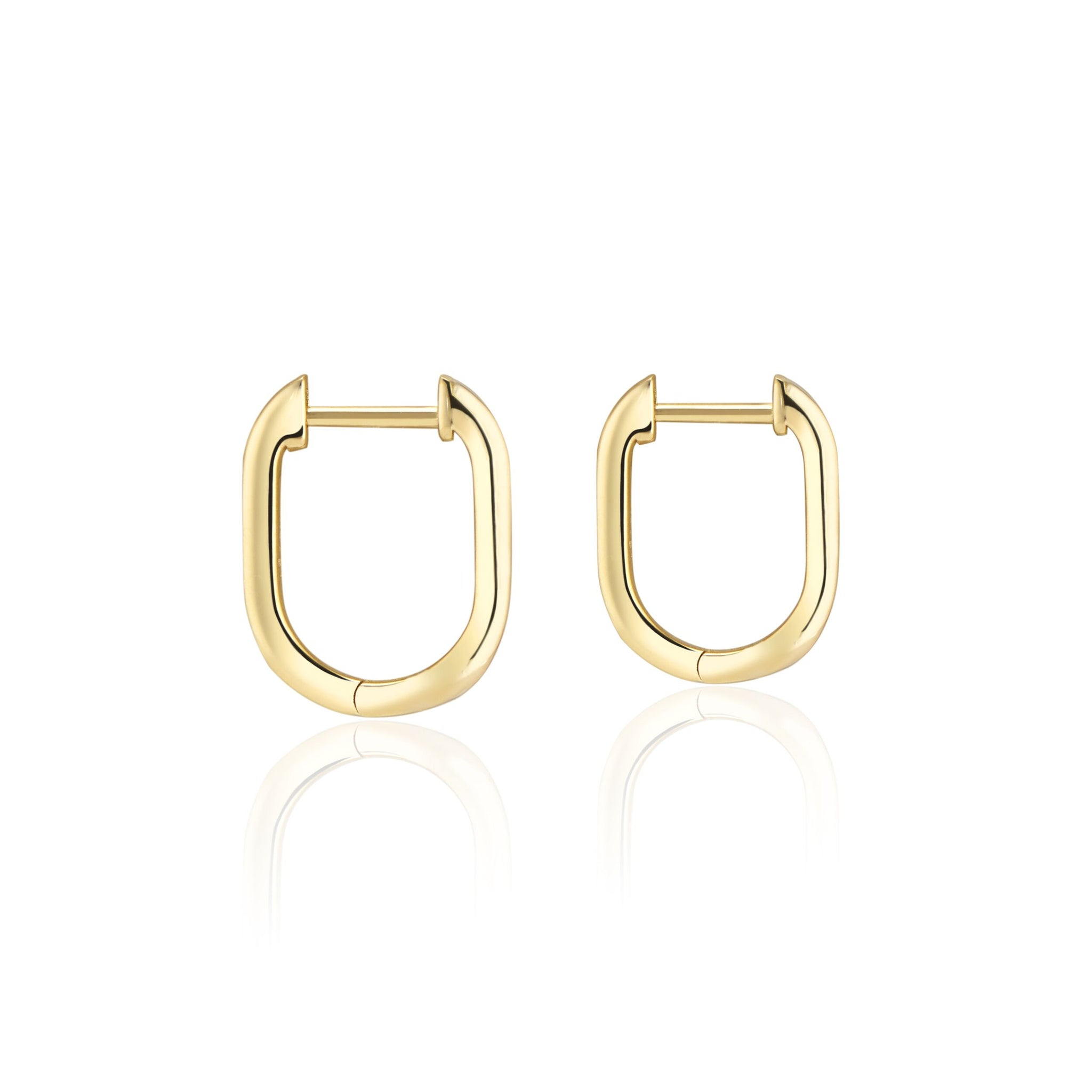 Noor Shamma 18k U Huggies Earrings