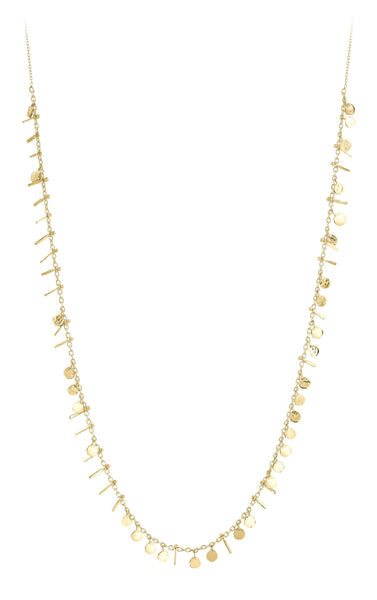 Kismet by Milka 14k Seed Dots and Tassels Necklace